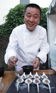Chef Nobu Matsuhisa cooking