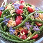 Haricots verts salad with cherries and almonds
