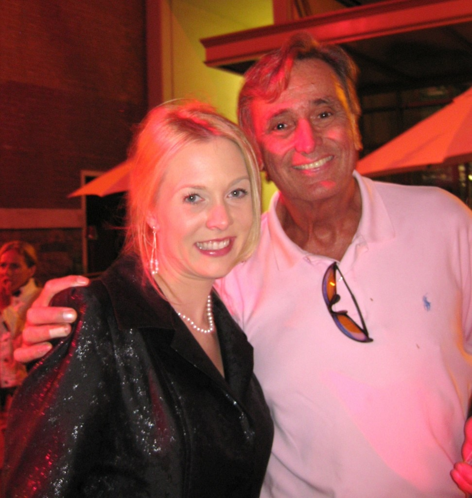 Actress Julia Alexander with Bob McCormick from KNX 1070