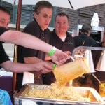 Sean Bates of Larchmont Grill, with his famous mac and cheese
