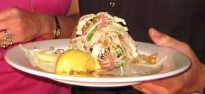 ludobitesporkbelly31 300x138 Confit pork belly   raw choucroute Thai style