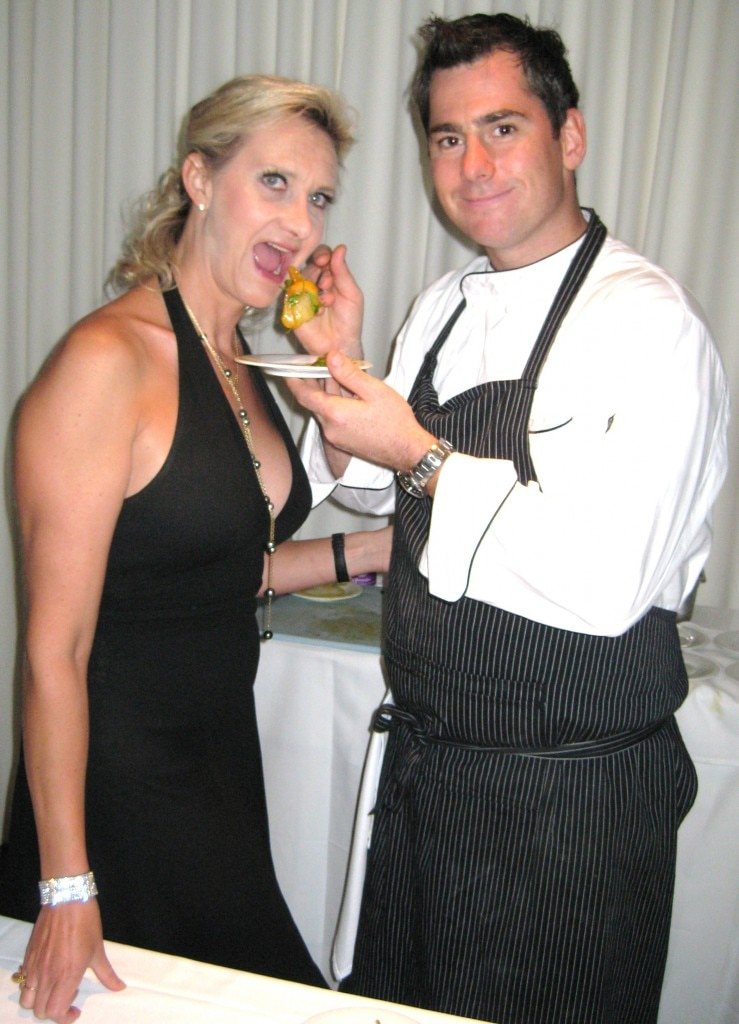 Chef Kevin Meehan from Pinot Bistro with Sophie Gayot