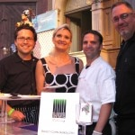 The team of Savore Catering: chefs Richard Lauther, Daniel Elkins and Erez Levy with Sophie Gayot