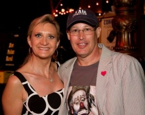 Concern Foundation president Derek Alpert with Sophie Gayot