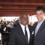 Terrance Burton, SBE Director of Restaurant Operations and Tony Sher, Gladstone's general manager
