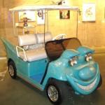 Golf cart designed by New York artist Kenny Scharf