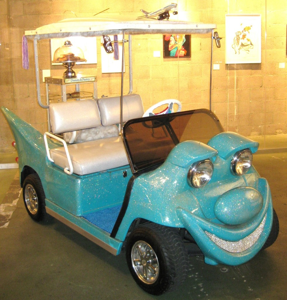 Golf cart designed by New York artist Kenny Scharf