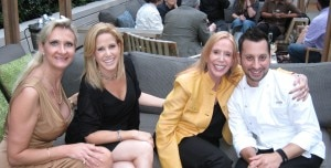 Chef Jamie Gwen, Lana Sills, chef Anthony Zappola from Craft Los Angeles with Sophie Gayot