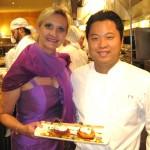 Chef Tetsu Yahagi with Sophie Gayot