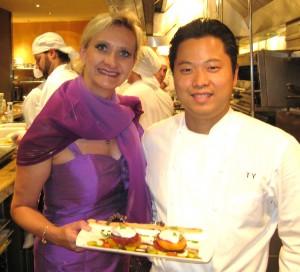 sophiegayottetsuyahagi 300x272 Chef Tetsu Yahagi with Sophie Gayot