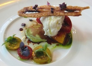 Burrata heirloom tomato salad