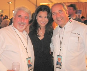 Drago restaurant, Celestino and Giacomino Drago, Il Buco,  with TV Host Victoria Recano