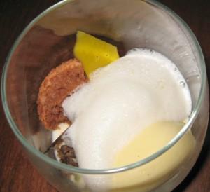 """""""Half-baked"""" pistachio and kaffir"""