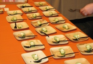 Patina restaurant, green tea and yuzu parfait with candied pistachios at the Taste of Beverly Hills