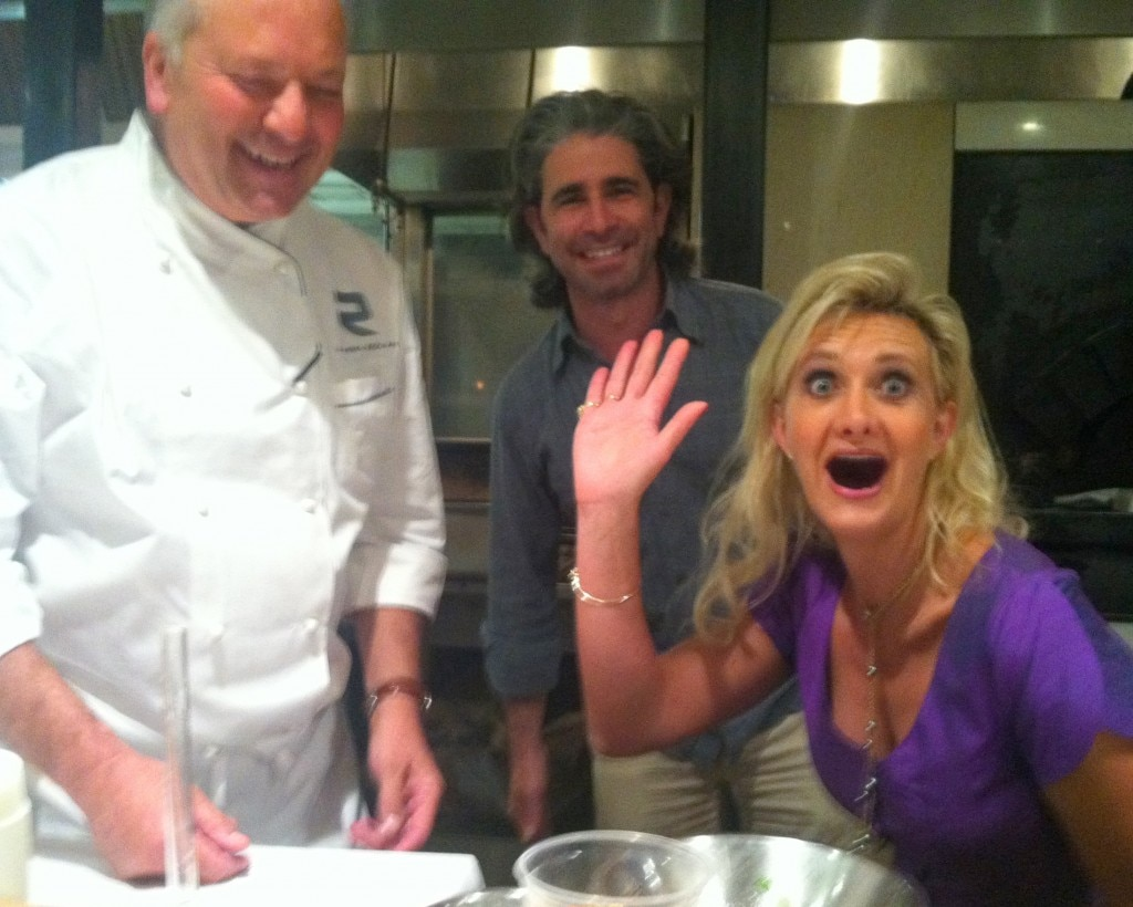 Chef John Sedlar, partner/owner Brian Saltsburg with Sophie Gayot