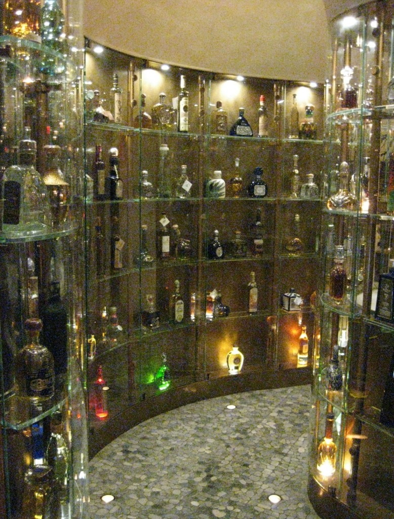 The tequila tunnel at chef Rick Bayless' Red O restaurant in Los Angeles