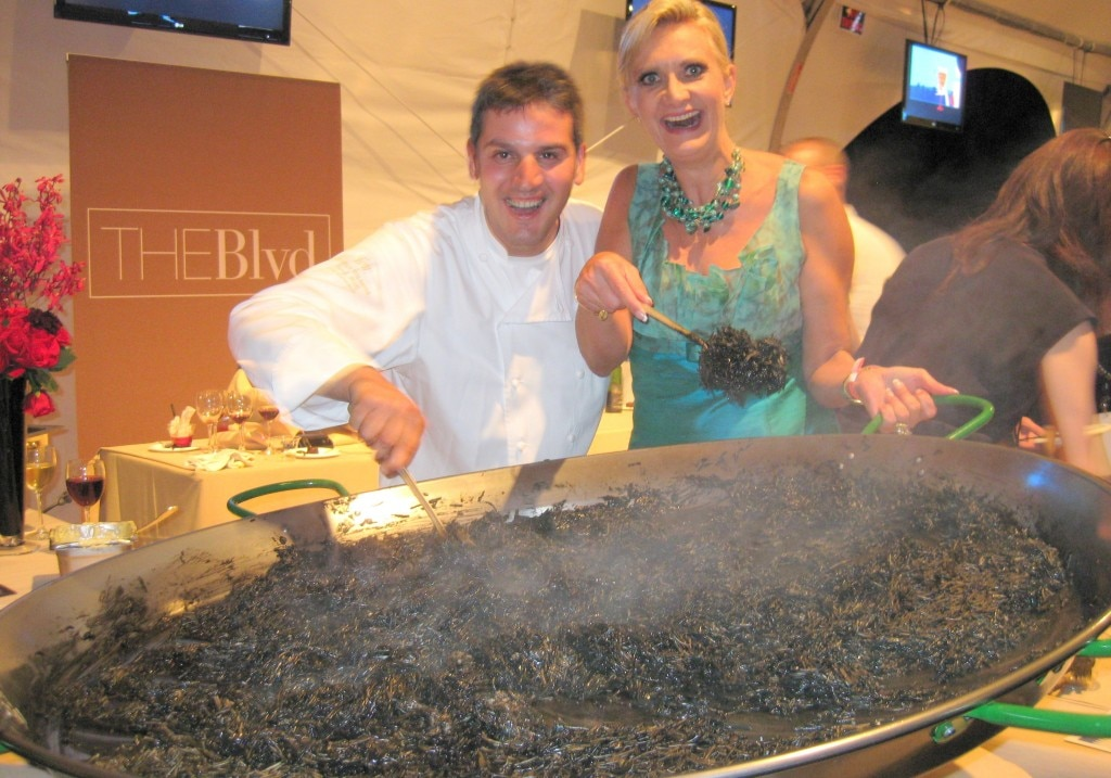 Chef Perfecto Rocher of The Blvd with Sophie Gayot