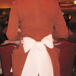 The waitresses's old-fashioned uniforms
