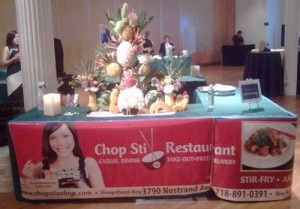 The Chop Stix Restaurant of NYC booth at the Plate By Plate Tasting Benefit at the Metropolitan Pavilion in New York City