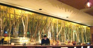 behind bar 300x155 Rows of artistically synthesized trees behind the bar