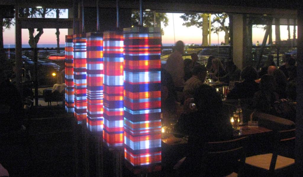 Sunset at BOA Steakhouse in Santa Monica