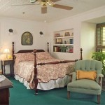 A guest room at the St. Francis Inn