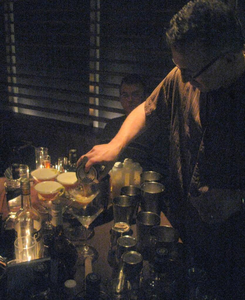 Mixologist Hector Bury from Joe's Restaurant