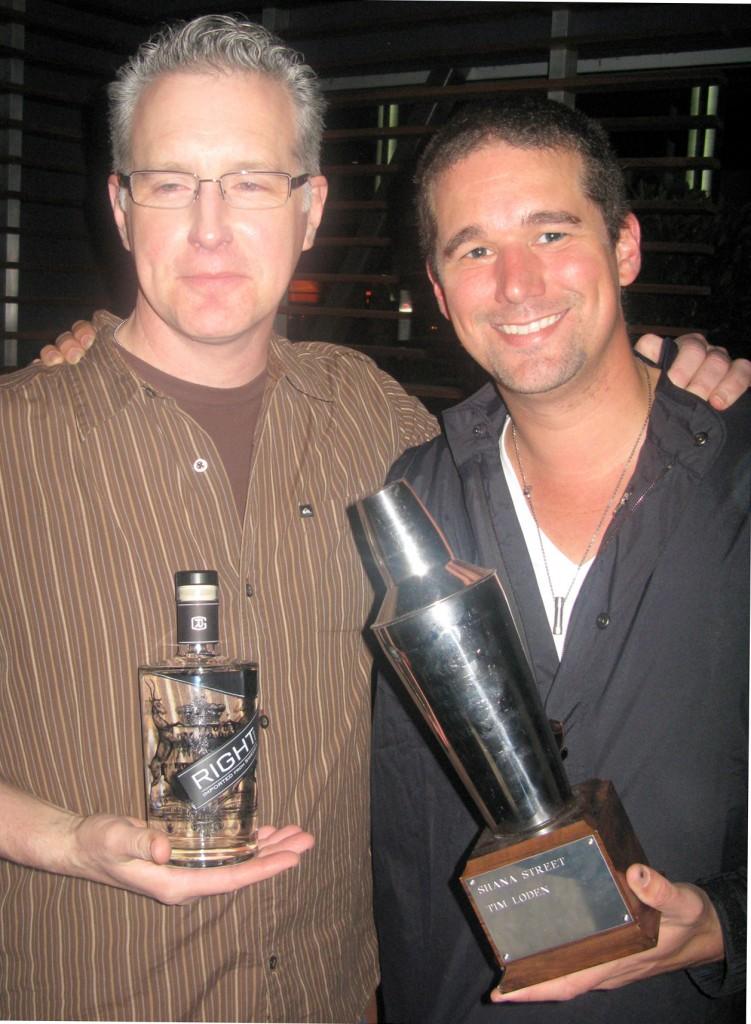 Winner Hector Bury with Scott Haro from Right Gin