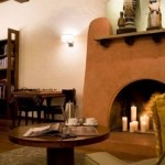 Fireplace in the lounge at Hotel Andaluz