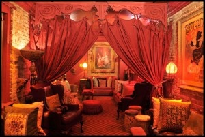 The Séance Lounge at Muriel's Jackson Square restaurant in the French Quarter of New Orleans