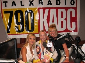 Bikini chef Susan Irby and Denice Fladeboe with Sophie Gayot