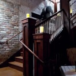 A staircase that leads to the second floor of Muriel's Jackson Square where mysterious footsteps have been heard