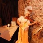 A violinist sets the mood at Muriel's