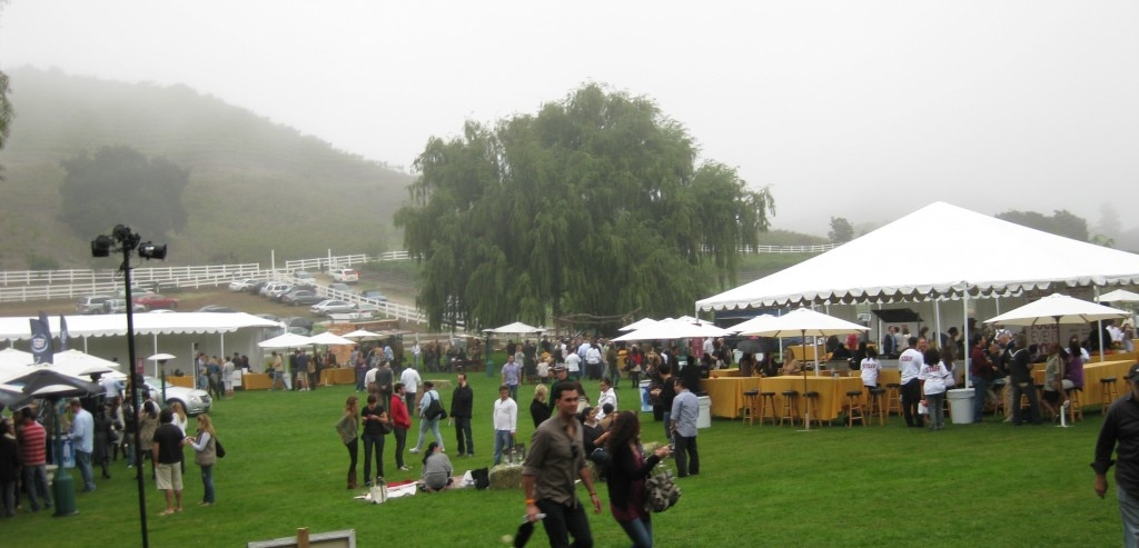 When the rain came at the 2010 Food Event at Saddlerock Ranch in Malibu