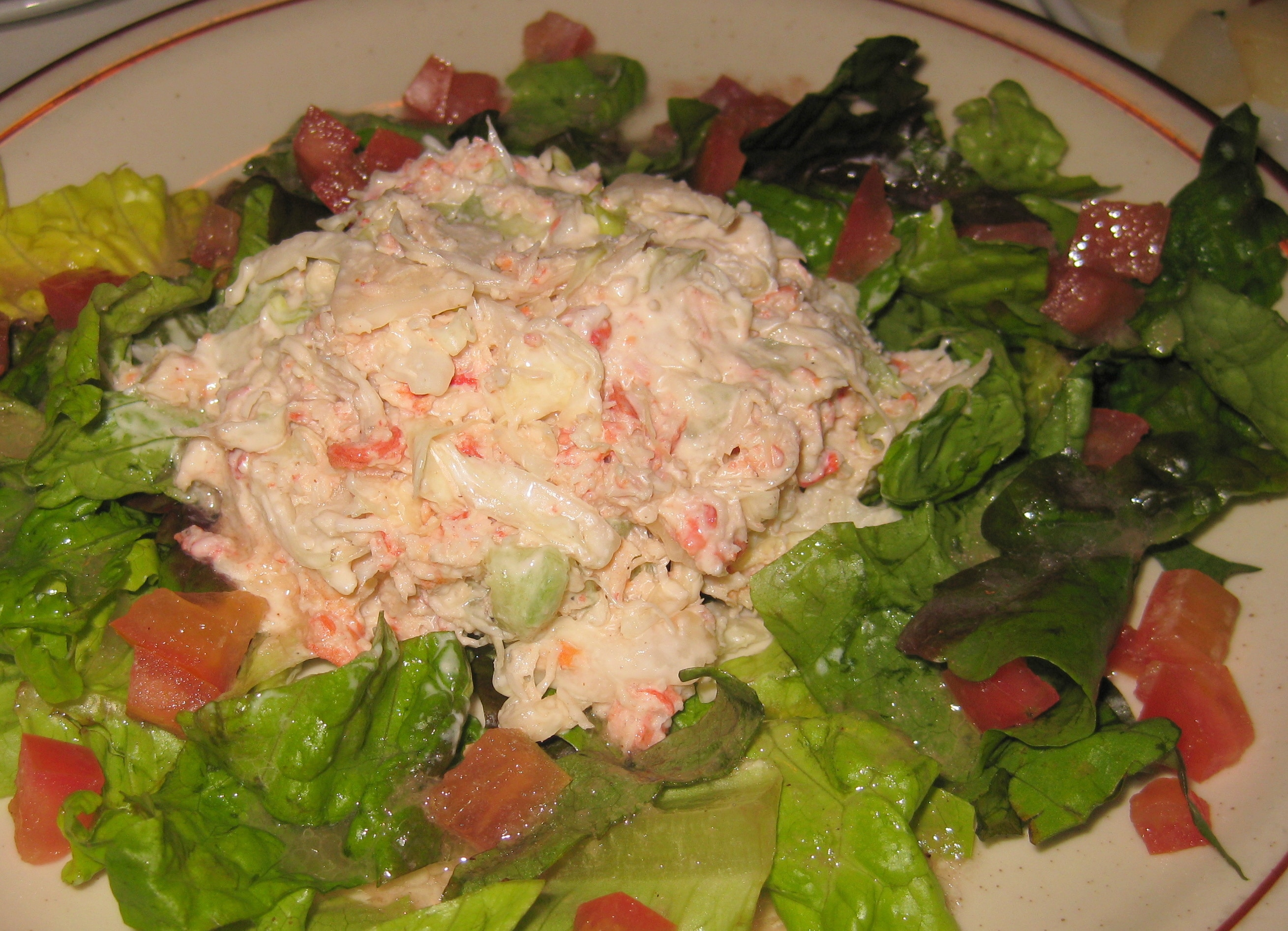 style crab salad on crab salad recipe chow com crab salad with
