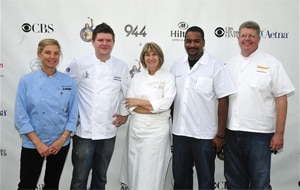 "Chefs Mary Sue Milliken, Adam Horton, Josie Le Balch, Matt Carpenter, and Jimmy Shaw at the 24th Annual Great Chefs of LA ""Go Green, Go Organic"" Event"