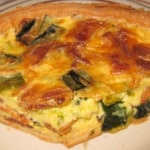 Leek quiche with traditional leek and bacon combination