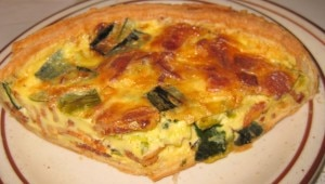 leek quiche 300x170 Leek quiche with traditional leek and bacon combination
