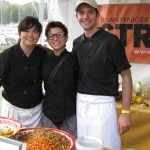 Chef Kajsa Alger (left) of STREET Restaurant who made Bhel Puri (Indian spice sweet potato and salad with puffed rice)