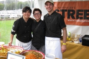 marisa gierlich street restaursnt 300x197 Chef Kajsa Alger (left) of STREET Restaurant who made Bhel Puri (Indian spice sweet potato and salad with puffed rice)