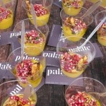 Palate Food + Wine's blue hubbard squash with mustard, pomegranate relish and bacon-apple strudel