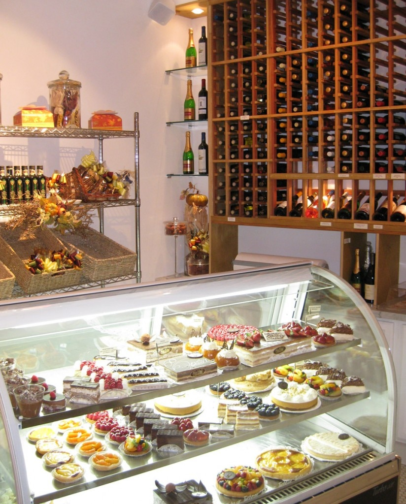 Delectable desserts in the pastry area of Maison Richard