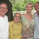 Chefs Mark Peel, Susan Feniger and Govind Armstrong with Sophie Gayot