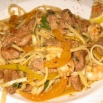 Duck and shrimp Avery Island pasta