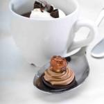 South-of-the-Border Pot de Crème with a milk chocolate ganache with hazelnut