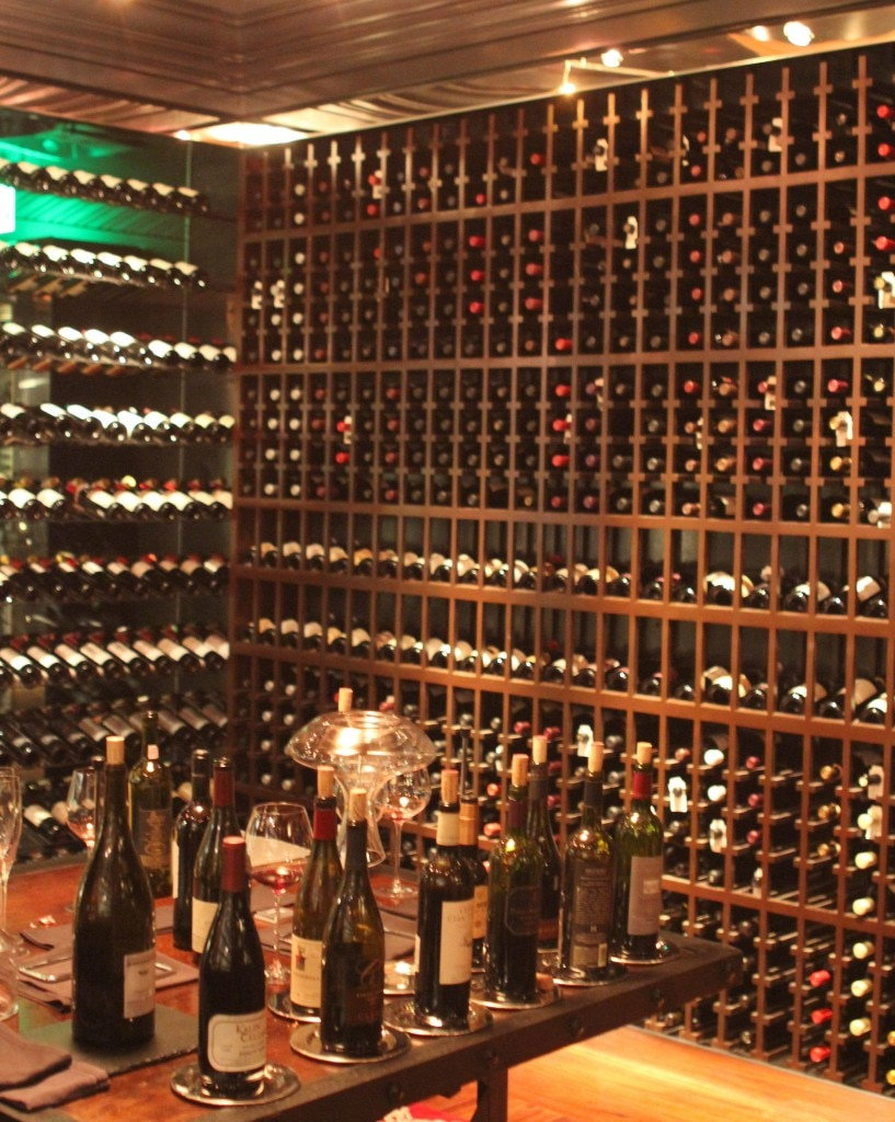 Red wines wine room