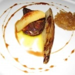 Sautéed Hudson Valley foie gras with onion marmalade, quince, braised endive and banyuls gastrique