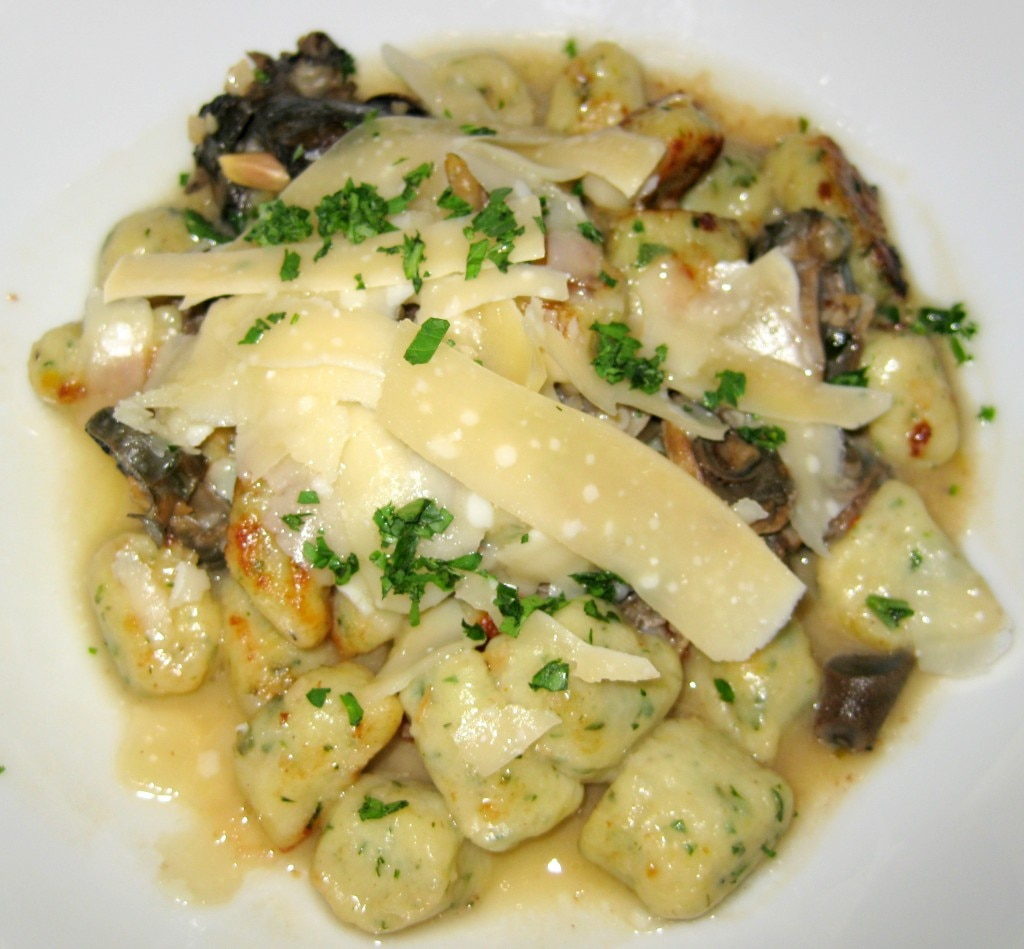 Gnocchi with escargots, garlic, parsley, butter and olive oil