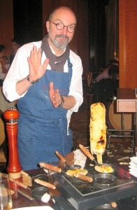 norbert wabnig 196x300 Partner/owner Norbert Wabnig of The Cheese Store of Beverly Hills preparing raclette