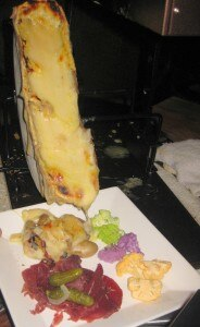 raclette melted cheese 184x300 The raclette goes right into the plate